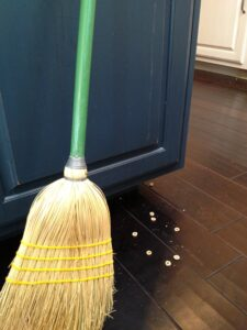 broom and floor